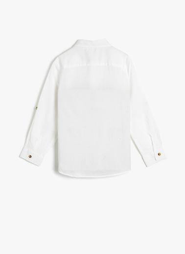 Koton Kids Klasik Yaka Gömlek Beyaz